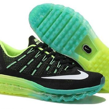 Ready Stock Nike Air Max 2016 Green Black Running Shoes Sport Running Shoes
