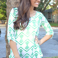 Play My Aztec Beats Blouse: Multi