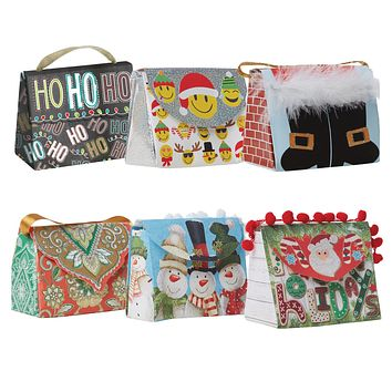 Candy Clutch Assortment, Christmas Designs (6 Bags)