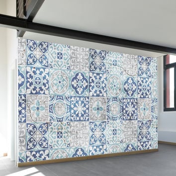 Tile Pattern Wall Mural