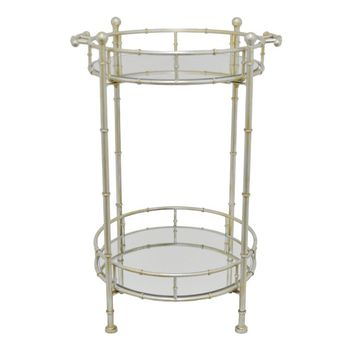Appealing Two Tier Mirror Table