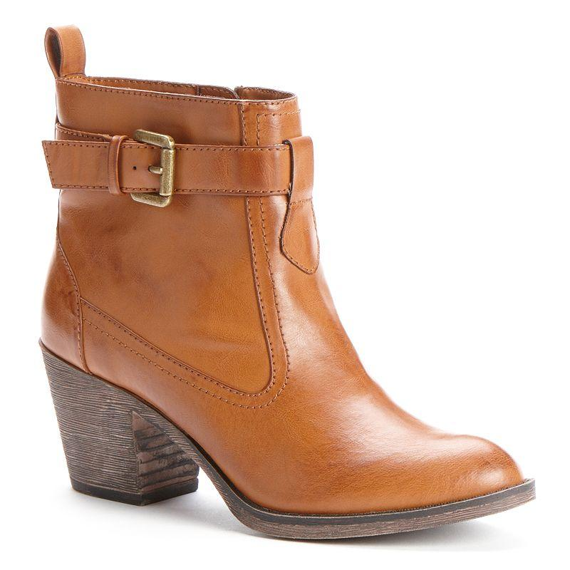 womens western ankle boots from kohl s