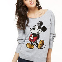 Mickey Sequin Sweatshirt - Grey