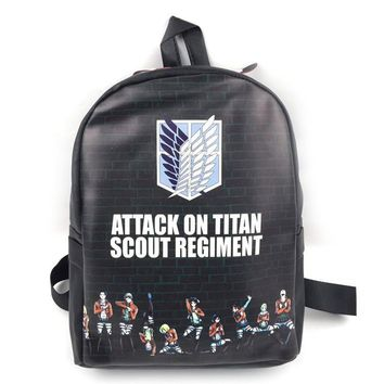 Cool Attack on Titan  Backpack School Bag Shoulders Bag Men Women Knapsack No  Printing Student Travelling Bag AT_90_11