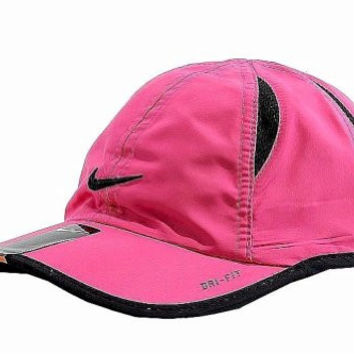 Nike Infant Girl's 1A2443 Embroidered Swish Logo Dri-Fit Baseball Cap Sz. 12/24M (Spark)