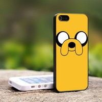 Adventure Time - For iPhone 4,4S Black Case Cover
