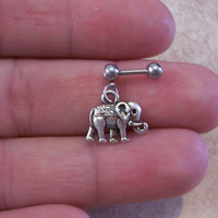 Elephant Cartilage 16ga Tragus Earring Body Jewelry