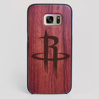 Houston Rockets Galaxy S7 Edge Case - All Wood Everything