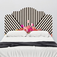 Bianca Green Diagonal Flora Headboard Wall Decal