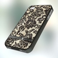 lace print design for iPhone 4 or 4S Case / Cover