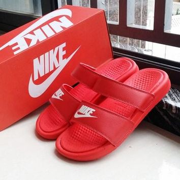 Nike Wmns Benassi Red Sandals Slipper Shoes