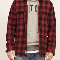 Muscle Fit Plaid Flannel Shirt