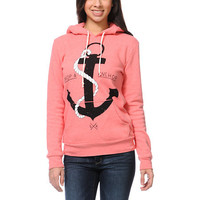 Glamour Kills Drop & Anchor Coral Pullover Hoodie