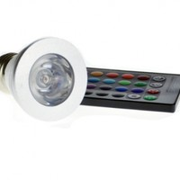 E-Goal 3W E27 Color Changing Light Bulb With Remote