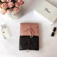 hcxx 1807 Dior Fashion Cowhide flip-over Chinese Wallet