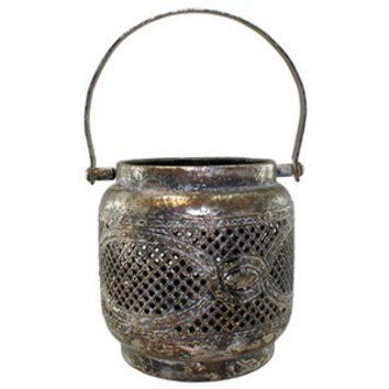 Naja Antique Silver Metal Lantern