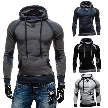 Two Tone Men's Hoodie Pullover with Pockets