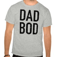 Dad Bod Distressed Letters Shirt