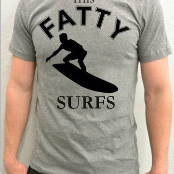 OOTD Outfit of the Day Trendy Unisex Surfer T-Shirt, This Fatty Surfs T-Shirt, Surf Wave Rider T-Shirt, Trending, Best Surfing T-Shirts