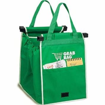 As Seen On TV - Grab BagReusable Shopping Bags Clip to Your Cart