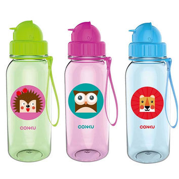 Baby Water Feeding Bottle Kid Bottles With Straw Child Drinking Bottle for Water Sport Feeding Plastic Tumbler Leak Proof 350ml