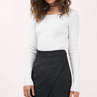 City Streets Wrap Front Skirt