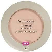 Neutrogena Mineral Sheers Powder Foundation, Natural Ivory 20, 0.34 Ounce
