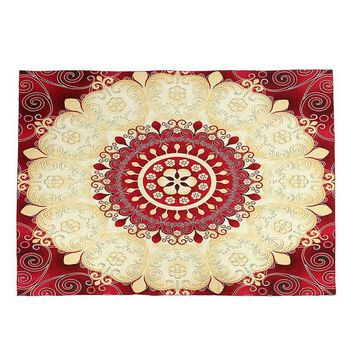 DCCKJG2 1pc Indian Mandala Tapestry Sandy Beach Towel Throw Yaga Mat Rug Blanket Wall Hanging Bedspread Travel Mattress Sleeping Pad