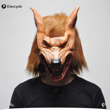 Scary Werewolf Wolf Head Masks Halloween Latex Mask Realistic