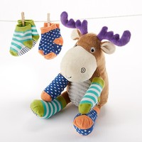 Adorable Plush Moose with Socks for Baby by Baby Aspen - Whimsical & Unique Gift Ideas for the Coolest Gift Givers