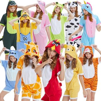 Summer Adult chil male and female animal pig cattle tiger cat pajamas Costumes Anime  Minion Jingle cat pajamas CosplayKawaii Pokemon go  AT_89_9