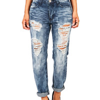 Marbled Boyfriend Jeans | Baggy Jeans at Pink Ice