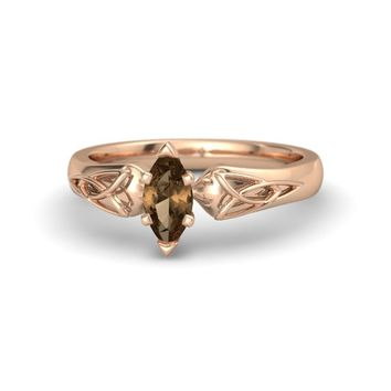Marquise Smoky Quartz 18K Rose Gold Ring