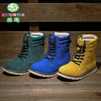 Para Martens Children Athletic Shoes Kids Original Enfant Dr 1460 Ankle Shoes Girls And Boy Cool Winter Leather Sneakers