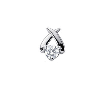 0.40ctw Diamond Solitaire Pendant/Necklace 14K White Gold