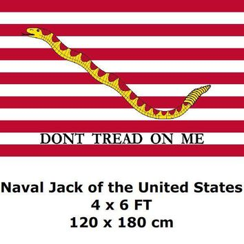 Naval Jack of the United States Flag 4` x 6` FEET 100D Polyester US USA American First Navy Jack Flags and Banners
