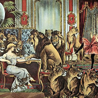Alfred Schneider Lions In Parlour Circus Poster