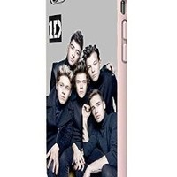One Direction Boyband Poster Custom Case for Iphone 5/5s Iphone 6/6 Plus Black and White (iPhone 6 Plus White Plastic)