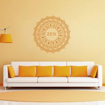 ik1777 Wall Decal Sticker Mandala Yoga ornament floral living room meditation
