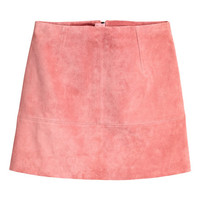 Short Suede Skirt - from H&M