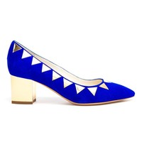 POLLINI | Suede and Metallic Pumps | Browns fashion & designer clothes & clothing