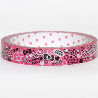Deco Tape Adhesive Stickers  Cute Hello Kitty Bow by charmstore