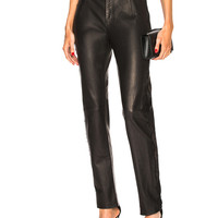 fleur du mal Tailored Leather Pant in Black | FWRD