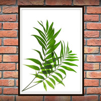 Tropical Leaf Print, Green Palm Art, Palm Art, Palm Leaves, Art Photo, Tropical Prints, Palm Leaf Prints, Tropical Decor, Green Decor *14*