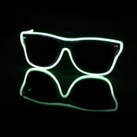 EL Wire Light Up Black and Green Sunglasses : LED Wire Glasses from RaveReady