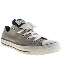 womens converse grey & navy all star double tongue oxford trainers