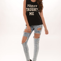"""Yeezy Taught Me"" Muscle Tank- Black 