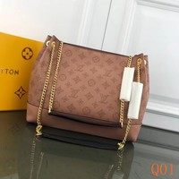 HCXX 19Aug 064 M66813 Louis Vuitton LV Hollow Chain Tote Bag Fashion Large-capacity Hobo Bag 30-25-11cm Brown