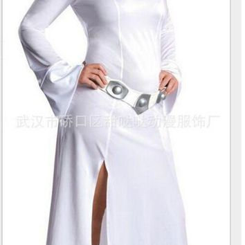 DCCKH6B STAR WARS Cosplay Alderaan Princess Leia Organa Solo Costume Adult Child Cosplay Dresses