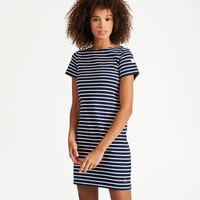 Riviera HOPE STRIPE FRENCH NAVY Short Sleeve Jersey Dress | Joules US